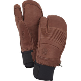 Hestra Leather Fall Line 3 Finger Gloves, brown